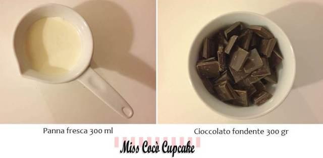 ganache cioccolato fondente